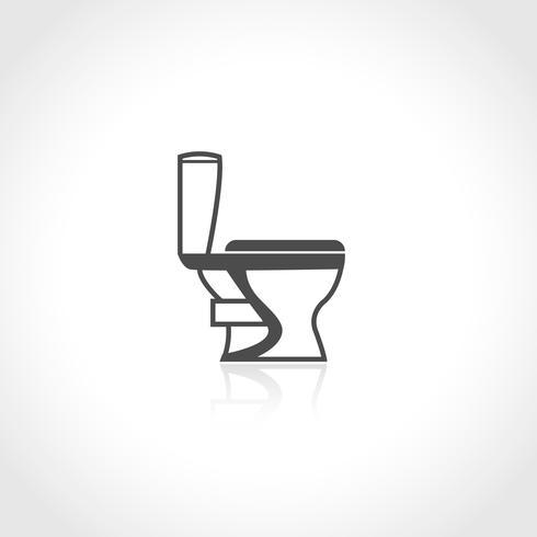 VVS ikon toalett skål vektor