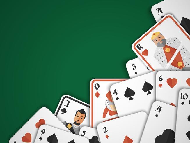 Spielkarten Hintergrund vektor