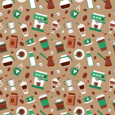 Kaffe sömlöst mönster vektor