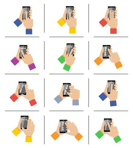 Smartphone-Touch-Gesten vektor
