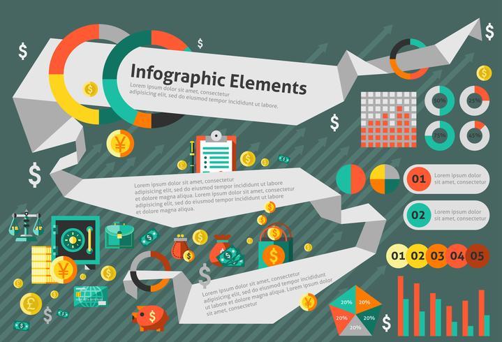 Finansiell infografisk uppsättning vektor
