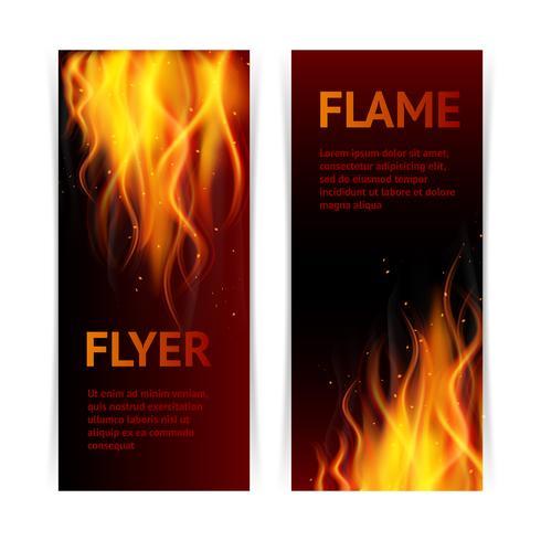 Flamma banners set vektor