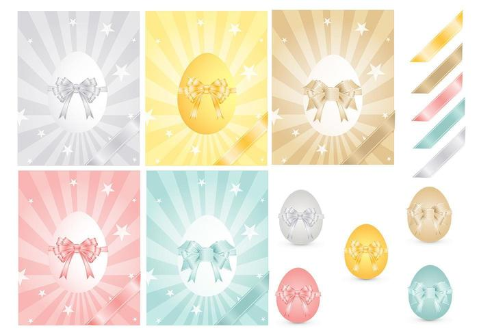 Osterei und Ribbons Vector Pack