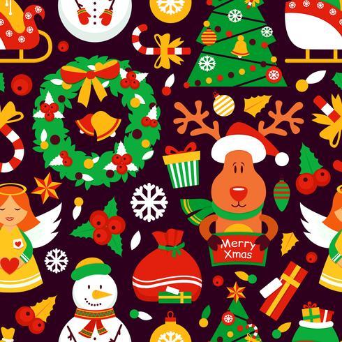 Weihnachtsnahtloses Muster vektor