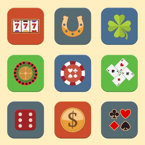 Casino Design Ikoner vektor