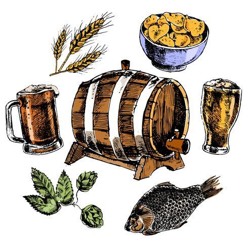 Öl ikoner uppsättning vektor