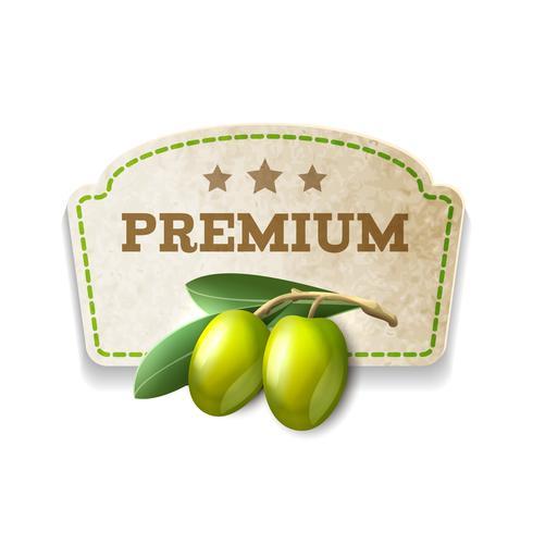 Olive Küchenabzeichen vektor