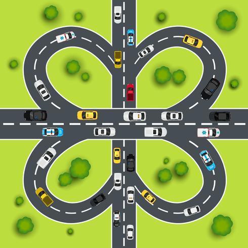Highway trafik illustration vektor
