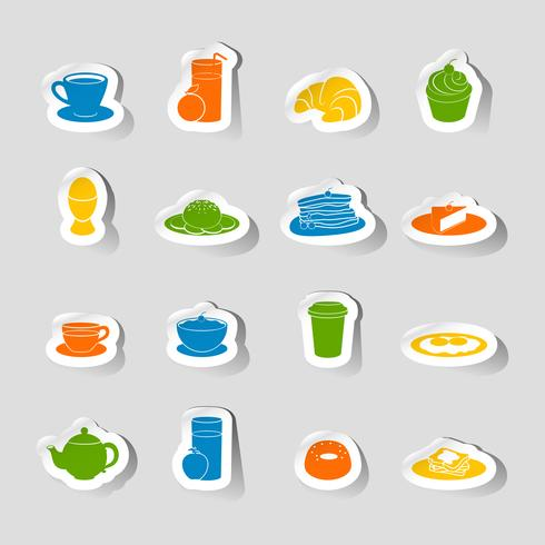 Frühstück-Symbol-Aufkleber vektor
