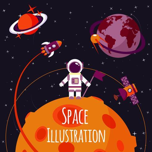 Platsen platt illustration vektor
