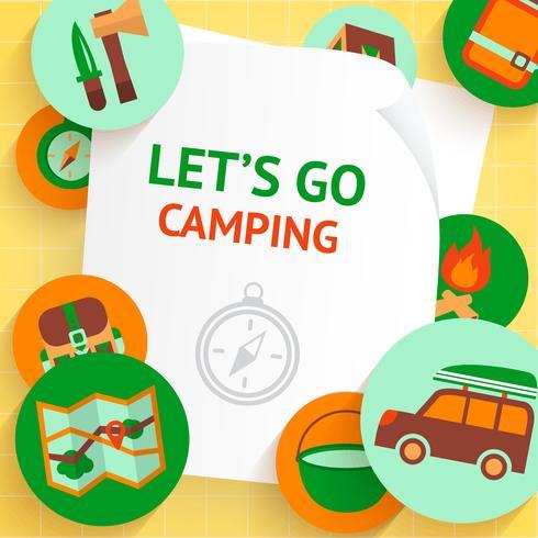 Camping bakgrundsmall vektor