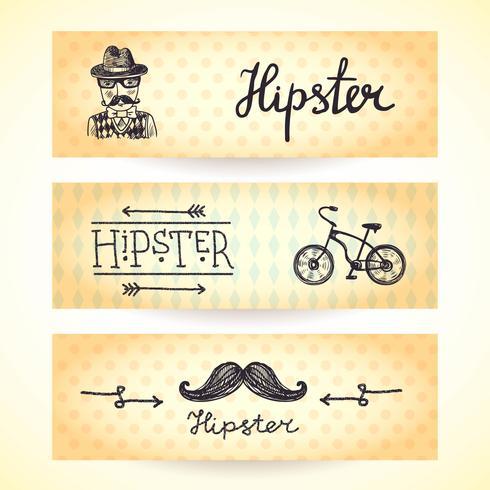 hipster banners set vektor