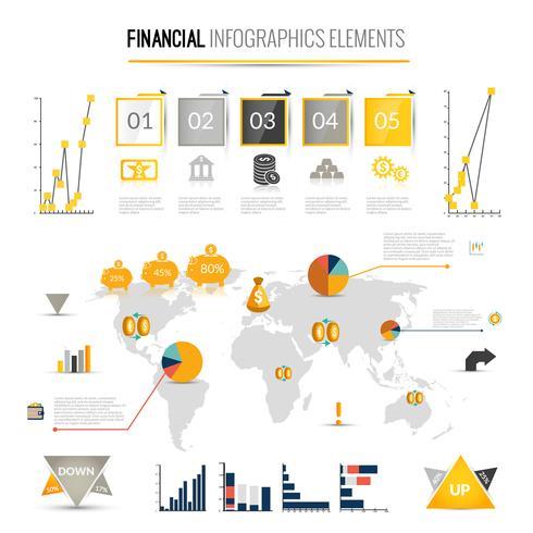 Geld Finanzen Infografiken vektor