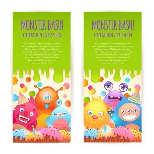 Monster vertikale Banner vektor