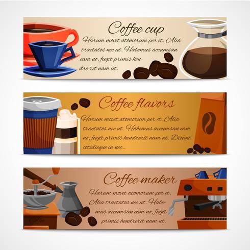 Kaffebanners uppsatta vektor