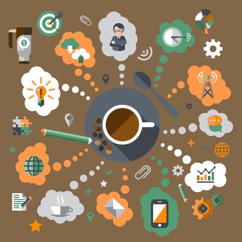 Kaffe kreativt koncept vektor
