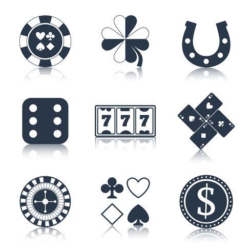 Casino svart designelement vektor