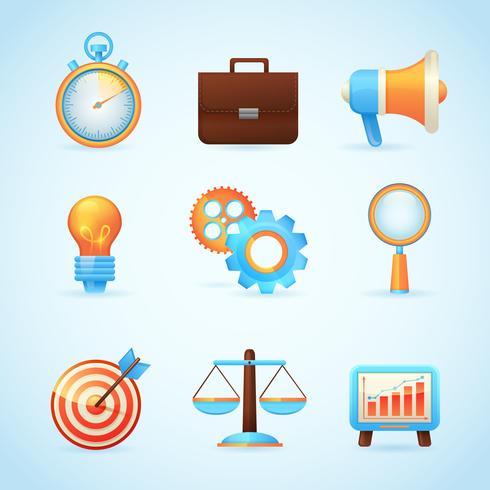SEO Internet-Marketing-Symbole vektor