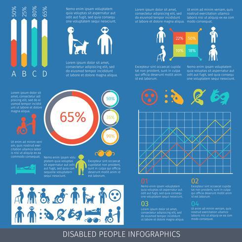 Handikappade infografiska vektor