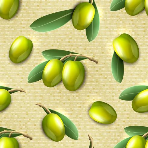 Olive sömlöst mönster vektor