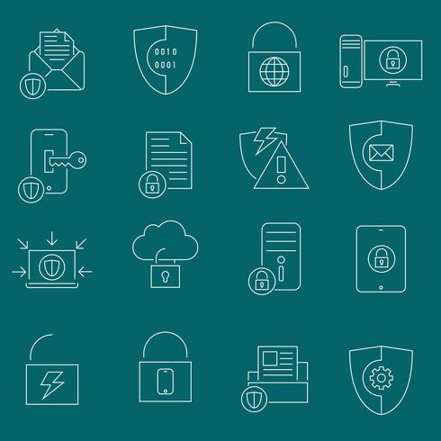 Datenschutz-Sicherheits-Icons vektor