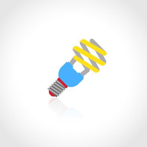 Energibesparande lightbulb ikon vektor