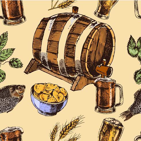 Öl retro sömlöst mönster vektor
