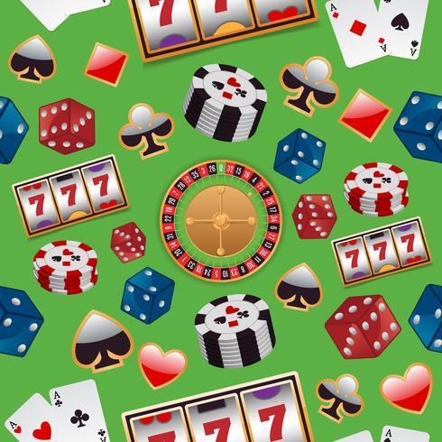 Casino sömlöst mönster vektor