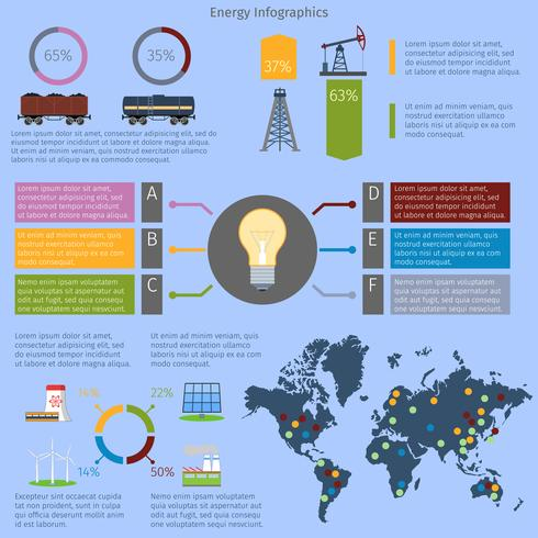 Energie-Infografiken gesetzt vektor