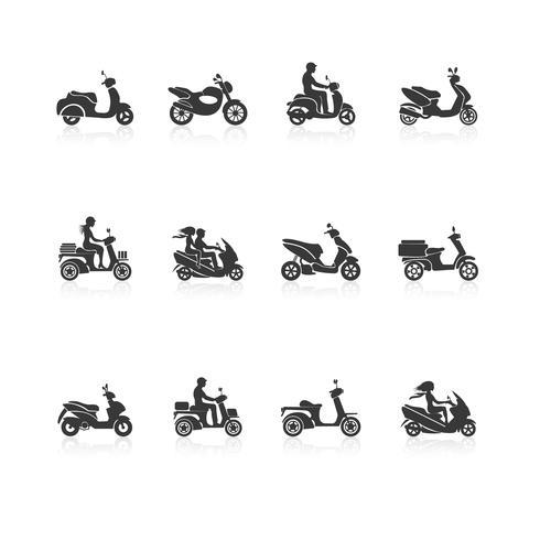 Roller-Icons gesetzt vektor