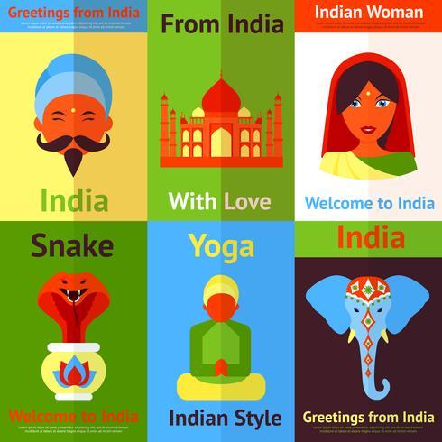 Indien-Mini-Poster vektor
