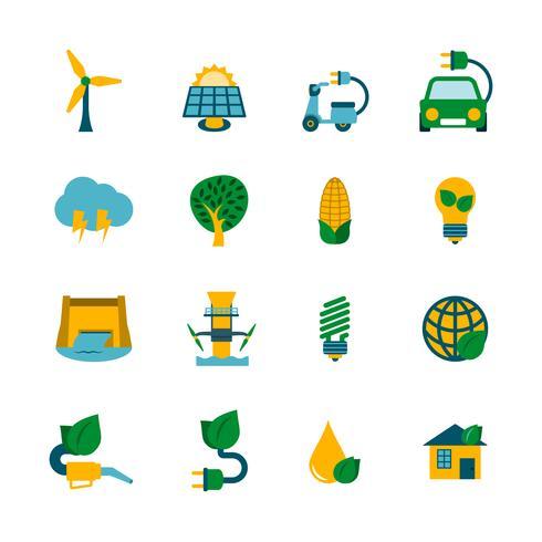 eko energi ikoner uppsättning vektor