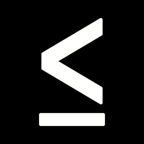 Lessthen-Vektor-Symbol vektor