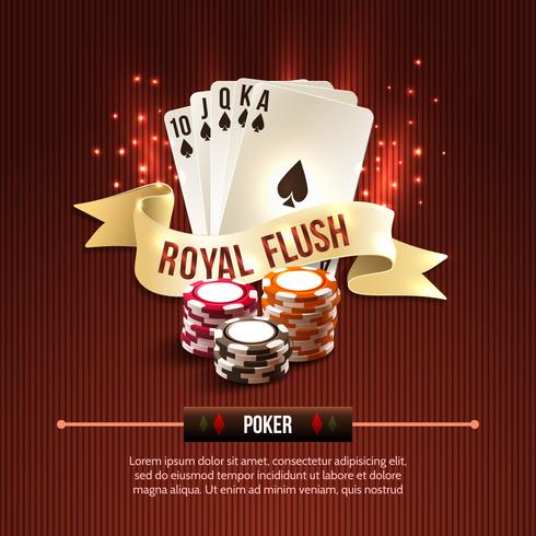 Pocker casino bakgrund vektor