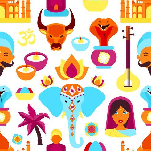 Indien sömlöst mönster vektor