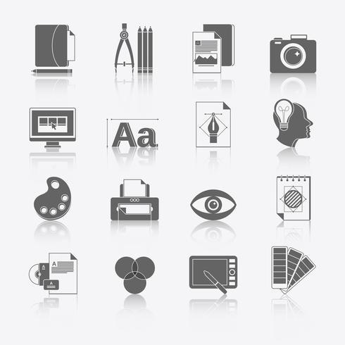 Grafiska design ikoner vektor
