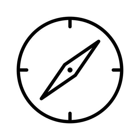 Vektor-Kompass-Symbol vektor