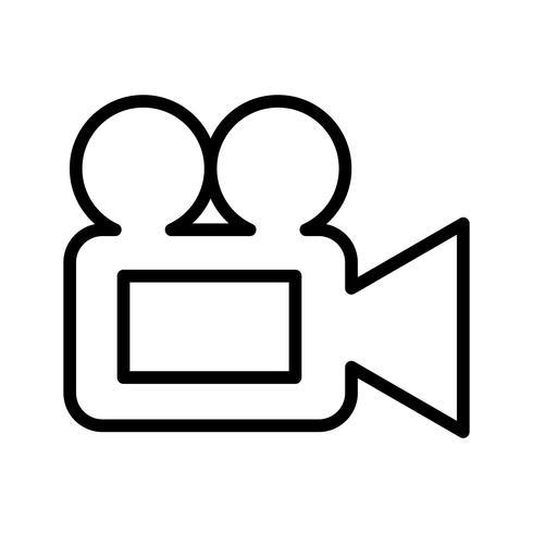 Vektor-Videokamera-Symbol vektor