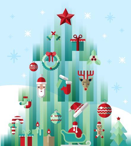 Weihnachtsikonenbaum vektor