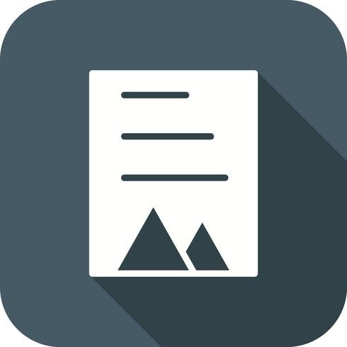 Vektor-Dokument-Symbol vektor
