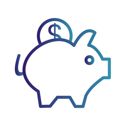 Vektor Piggy Bank Ikon