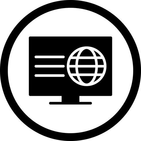 Vektor-Webseiten-Symbol vektor