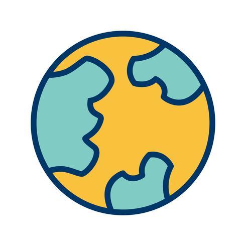 Globus-Vektor-Symbol vektor