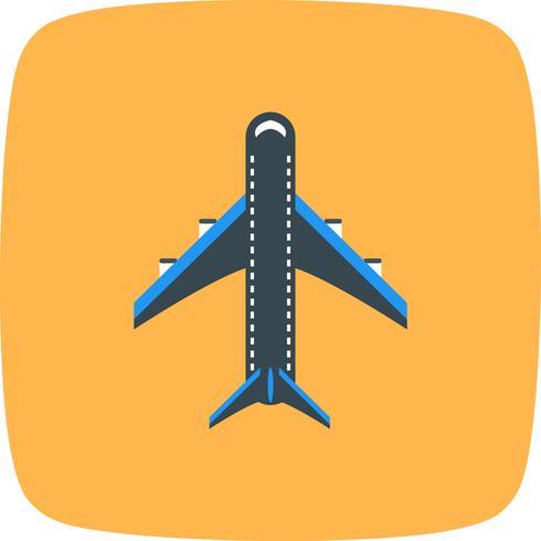 Vektor-Flugzeug-Symbol vektor