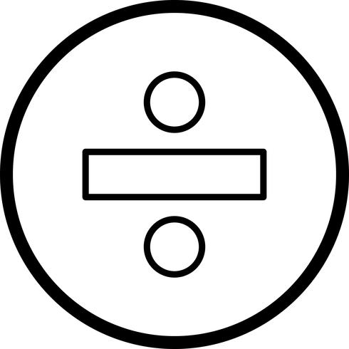Vektor-Symbol teilen vektor