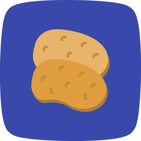 Vektor-Kartoffeln-Symbol vektor