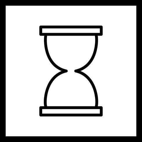 Sanduhr-Vektor-Symbol vektor