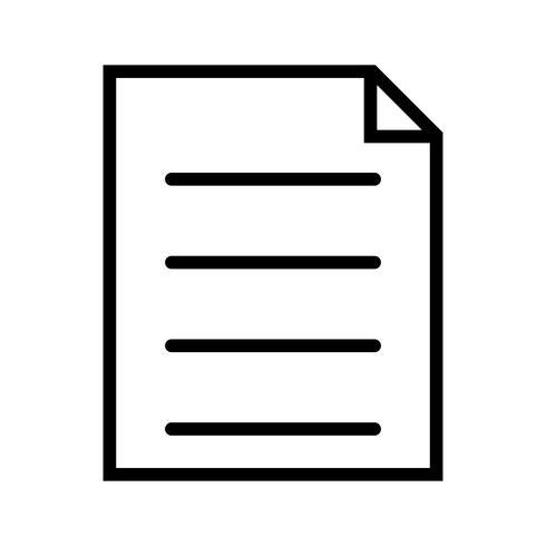 Vektorbericht-Symbol vektor