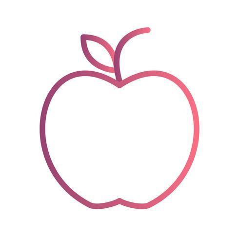 Vektor-Apple-Symbol vektor