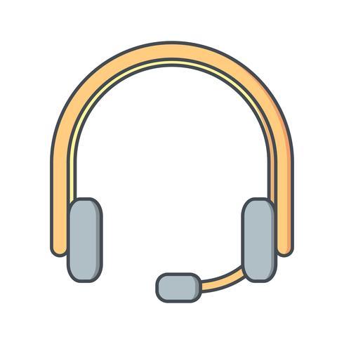 Vektor-Kopfhörer-Symbol vektor
